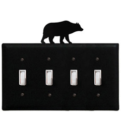 Wrought Iron Bear - Switch Cover QUAD