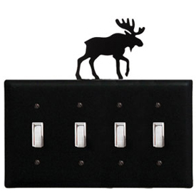 Wrought Iron Moose - Switch Cover QUAD