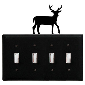 Wrought Iron Deer - Switch Cover QUAD
