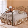 "Aynsley Iron Bed with ornate scroll work and cast accents - pictured in the finish ""Majestique"""