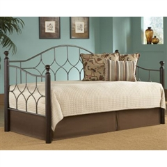 Bianca Iron Daybed Hammered Pewter/Espresso Finish