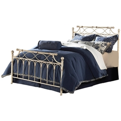 Chester Iron Bed Creme Brulee Finish Ornate Design