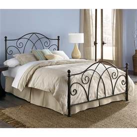 Deland Iron Bed Brown Sparkle Finish Traditional Design