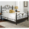 Elegance Iron Bed Ornate Victorian Design Glided Truffle Finish