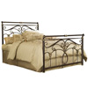 Lucinda Iron Bed Marbled Russet Finish Traditional Scroll Work