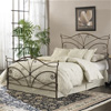 Papillon Iron Bed Brushed Bronze Finish Traditional Spiral Des.