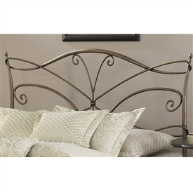 Papillon Iron Headboard Brushed Bronze Finish Spiral Design