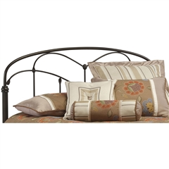 Pomona Iron Headboard Hazelnut Finish Traditional Curving Des