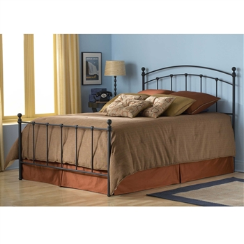 Sanford Iron Bed Contemporary Style Matte Black Finish