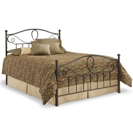 Sylvania Iron Headboard French Roast Fin. Classic Curving Style