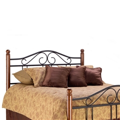 Weston Iron&Wood Headboard Matte Black/Maple South West