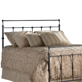 Winslow Iron Headboard Mahogany Gold Finish Classic Design