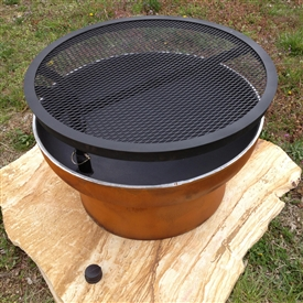 Outdoor Grill Pit, 30in Diameter Hand-crafted by Fire Pit Art and sold at TimelessWroughtIron.com