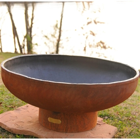 Low Boy 36 inch Outdoor Fire Pit atistically Hand-crafted by Fire Pit Art and sold at TimelessWroughtIron.com
