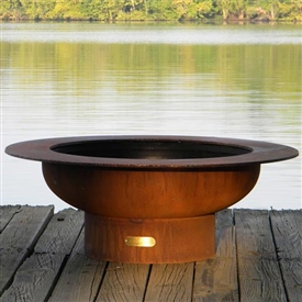 Saturn Outdoor Fire Pit atistically Hand-crafted by Fire Pit Art and sold at TimelessWroughtIron.com