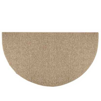 Pictured is the 27 inch x 48 inch Olefin Sisal Weave Natural Hearth Rug manufactured in America by Goods of the Woods