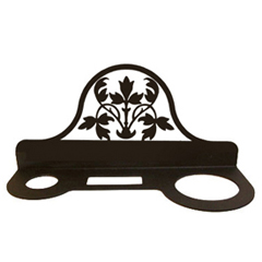 Wrought Iron Floral Hair Dryer Rack