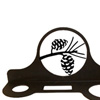 Wrought Iron Pinecone Hair Dryer Rack