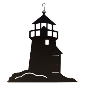 Wrought Iron Lighthouse Silhouette