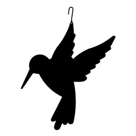 Wrought Iron Hummingbird Silhouette