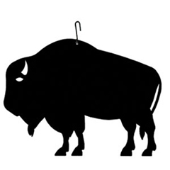 Wrought Iron Buffalo Silhouette