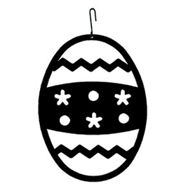Wrought Iron Easter Egg Silhouette