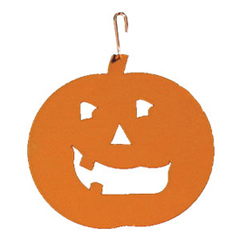 Wrought Iron Pumpkin Silhouette-ORANGE