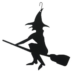 Wrought Iron Witch Silhouette