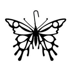 Wrought Iron Butterfly Silhouette