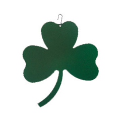 Wrought Iron Shamrock Silhouette-Green