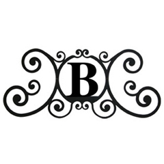 Wrought Iron House Plaque Let B