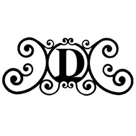 Wrought Iron House Plaque Let D