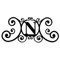 Wrought Iron House Plaque Let N