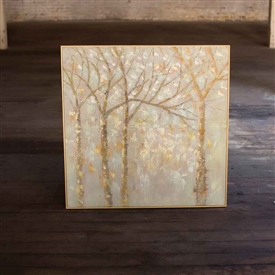 Pictured here is the Winter Trees Oils Painting with Gold Frame at TimelessWrought Iron.
