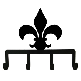 Wrought Iron FLEUR-DE-LIS Key Holder