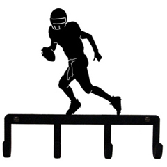 Wrought Iron Football Player Key Holder