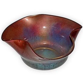 Pictured here is the Sun Blast Folded Glass Bowl from Couleur