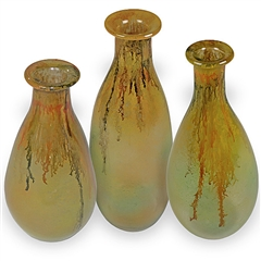 Pictured here is the Honeysuckle Glass Bottles Set of 3 from Couleur
