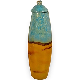 Pictured here is the Small Tropical Glass Cylinder Urn  from Couleur
