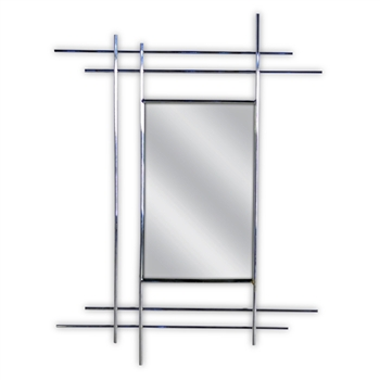 Pictured here is the modern style Metro Chrome Rectangle Wall Mirror from Couleur