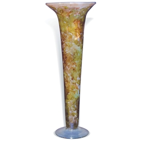 Pictured here is the Orange Passion Slim Glass Vase from Mathews and Company