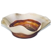 Pictured here is the Mango Tango Round Glass Bowl from Mathews and Company
