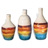 Pictured here is the Mango Tango Glass Bottles Set of 3 from Mathews and Company