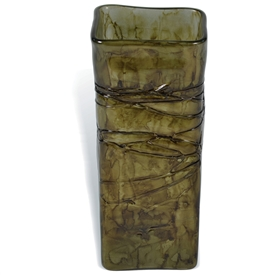 Pictured here is the Enchanted Forest Square Large Glass Vase from Mathews and Company