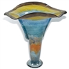Pictured here is the Wild Flower Urn Glass Vase from Mathews and Company