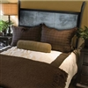 Pictured here is the Chanal Wrought Iron Headboard with Zinc hand forged by artisan blacksmiths.