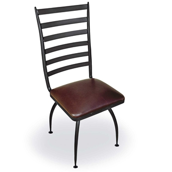Pictured is our Pinnacle Dining Side Chair, hand-forged by artisan blacksmiths.