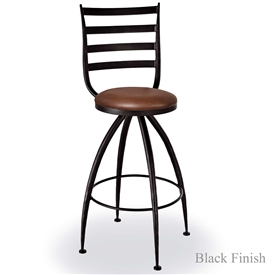 "Pictured is our Pinnale 30"" Swivel Bar Stool no Arms, hand-forged by artisan blacksmiths."