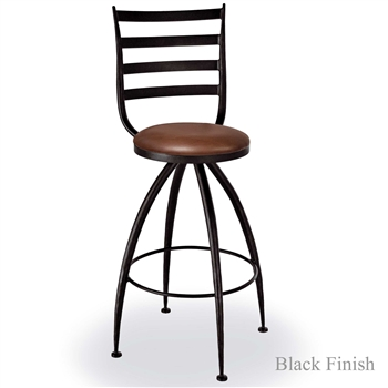 "Pictured is our Pinnacle 25"" Swivel Counter Stool no Arms, hand-forged by artisan blacksmiths."