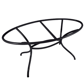 Pictured here is the Italia Oval Dining Table Base Only hand crafted by skilled artisan blacksmiths from Mathews and company.